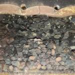 Verschmutzter Kessel - Lufteingangskanal